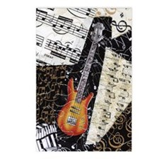 bass-guitar-ornament Postcards (Package of 8)