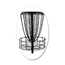 Sticker - Disc Golf Catcher  35x21 Oval Wall Decal