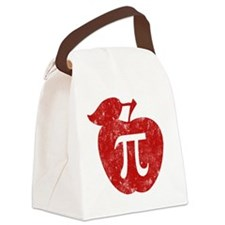 apple pie red bl Canvas Lunch Bag