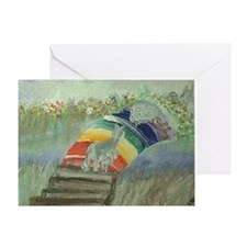rainbow42x28 Greeting Card