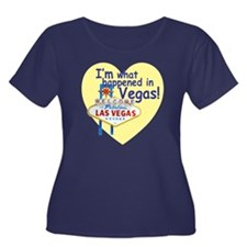 vegas.gi Women's Plus Size Dark Scoop Neck T-Shirt