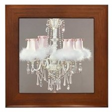 Shabby-chic-chandelier Framed Tile