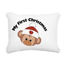 my first christmas girl  Rectangular Canvas Pillow