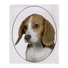 God-Beagle plain Throw Blanket