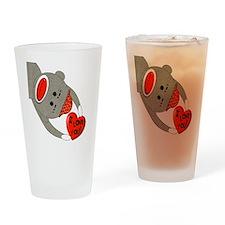 sock monkey HUGE Drinking Glass