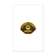 Alpine County Sheriff Mini Poster Print