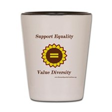 Support Equality Sunflower Shot Glass