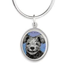 pumi-key1 Silver Oval Necklace