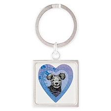 pumi-heart Square Keychain