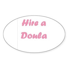 Hire a Doula Oval Decal