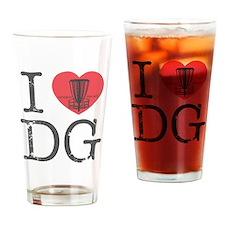 I Heart DG Drinking Glass