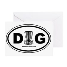 DG Oval Greeting Card