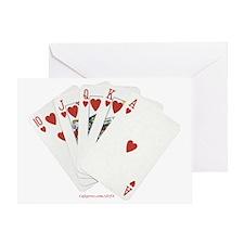 Royal Flush Cards hand 2 Greeting Card