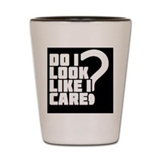 care_black Shot Glass