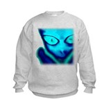 Blue Alien Sweatshirt