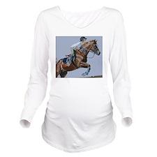 dani_horse_magnets Long Sleeve Maternity T-Shirt
