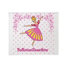 Personalize Your Ballerina Girl! Throw Blanket