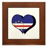 I Love Cape Verde Framed Tile