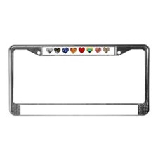 hhearts License Plate Frame