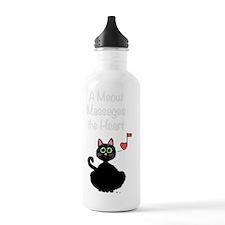 Meow_massages_transpar Water Bottle