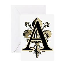 AntiqFleurGLgAtr Greeting Card