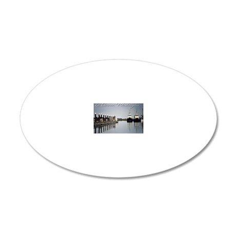Boats of La Conner © AD Ric 20x12 Oval Wall Decal