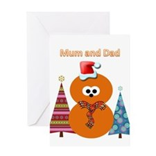 Zingy Christmas Greeting Card (Mum &Amp; Dad)