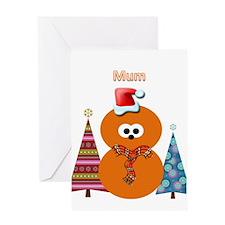 Zingy Christmas Greeting Card (Mum)