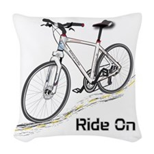 Three-Quarter View Bicycle Woven Throw Pillow