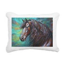 Zelvius the Friesian hor Rectangular Canvas Pillow