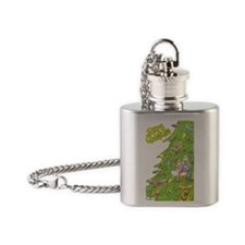 Christmas Tree Flask Necklace
