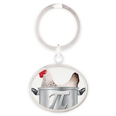 CHICKE 1 POT PI Oval Keychain