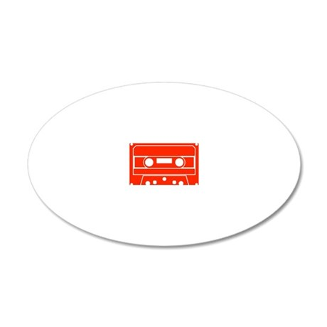 Cassette Red 20x12 Oval Wall Decal