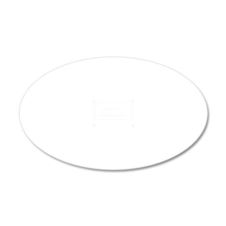 Cassette White 20x12 Oval Wall Decal
