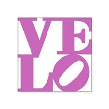 "4velo_pink Square Sticker 3"" x 3"""