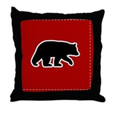 bearredpillow Throw Pillow