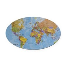 world Oval Car Magnet