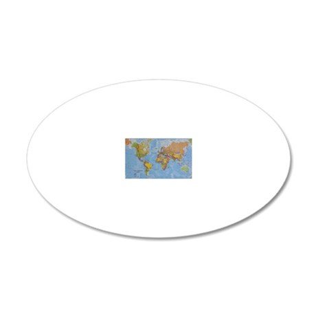 world 20x12 Oval Wall Decal