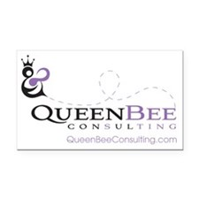 QueenBeeConsLogoWebMed Rectangle Car Magnet