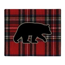 bearplaidpillow Throw Blanket