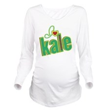 i-heart-kale Long Sleeve Maternity T-Shirt
