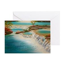 waterfallbelieveposter Greeting Card