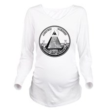 All Seeing Eye black Long Sleeve Maternity T-Shirt