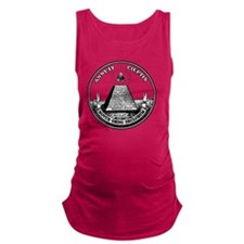 All Seeing Eye black fixed Maternity Tank Top