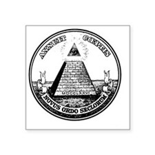 "All Seeing Eye black fixed Square Sticker 3"" x 3"""