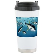 yellowfin1024 Ceramic Travel Mug