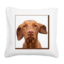 Cricket Square Brown Square Canvas Pillow
