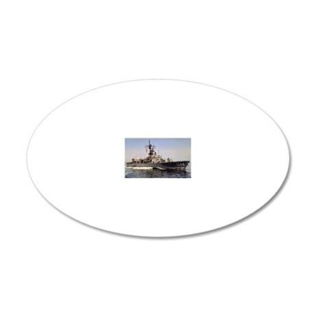 brumby de rectangle magnet 20x12 Oval Wall Decal