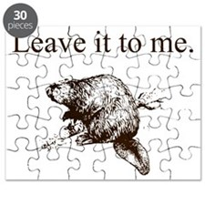Leave it to me... Beaver (front only) Puzzle