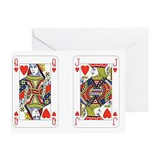 Qh Jh Greeting Card